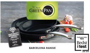 """GreenPan Barcelona serien vinder """"Bedst i test"""" hos forbrugerrådet TÆNK"""